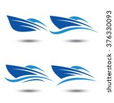 speed boat logo icon vector... | Shutterstock .eps vector #376330093