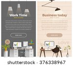 two banner for web design.... | Shutterstock .eps vector #376338967