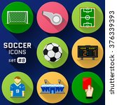 color flat icon set of soccer... | Shutterstock . vector #376339393