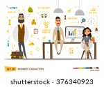 business characters set .group... | Shutterstock .eps vector #376340923