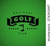 vector flat golf logo design....   Shutterstock .eps vector #376342447