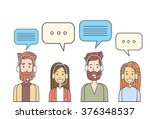 call center operators team  man ...   Shutterstock .eps vector #376348537