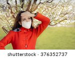 Woman With Allergy With...