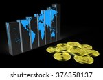 3d Global Business Chart With...