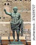 Small photo of Statue of Octavian Augustus in the street of the Imperial Forum in Rome, Italy, Europe