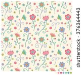 Pastel Floral Seamless Vector....