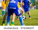 teenagers boys playing soccer... | Shutterstock . vector #376368247