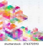 abstract triangular vector... | Shutterstock .eps vector #376370593