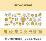 line design concept web banner... | Shutterstock . vector #376375213