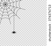 vector spider web and small... | Shutterstock .eps vector #376376713