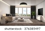 interior with sofa. 3d... | Shutterstock . vector #376385497