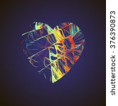 bright heart. stock vector. | Shutterstock .eps vector #376390873