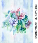 watercolor painting. bouquet of ... | Shutterstock . vector #376398103