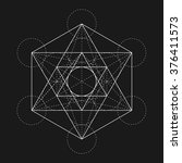 metatron's cube. flower of life.... | Shutterstock .eps vector #376411573