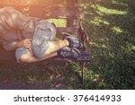 Homeless Man Sleep In The Park