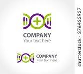 logo concept for pharmaceutical ... | Shutterstock .eps vector #376432927