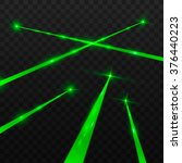 abstract green laser beams.... | Shutterstock .eps vector #376440223