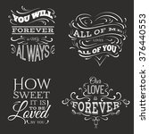 collection of  quote... | Shutterstock .eps vector #376440553
