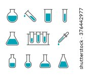 chemical science lab equipment  ... | Shutterstock .eps vector #376442977