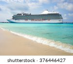 side view of luxury cruise ship ... | Shutterstock . vector #376446427