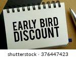 Early Bird Discount Memo...