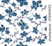 summer camouflage hawaiian... | Shutterstock .eps vector #376453453