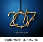 2017 happy new year background... | Shutterstock .eps vector #376457707