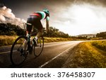 men cycling road bike in the...