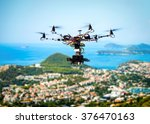 professional movie camera drone ... | Shutterstock . vector #376470163