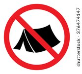 no camping sign | Shutterstock .eps vector #376474147