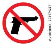 no guns sign | Shutterstock .eps vector #376474297