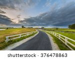 Curved Asphalt Country Road In...