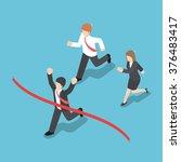isometric design businessman... | Shutterstock .eps vector #376483417