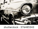 classic car with close up on... | Shutterstock . vector #376485343