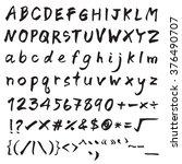 brush ink stroke font design.... | Shutterstock .eps vector #376490707