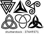 six triangular symbols   Shutterstock .eps vector #37649371