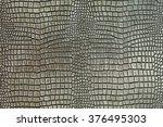 metallic crocodile skin shape... | Shutterstock . vector #376495303