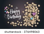 happy birthday text  on ... | Shutterstock .eps vector #376498063