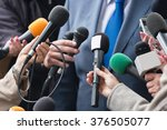 media interview   group of... | Shutterstock . vector #376505077