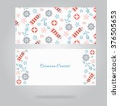 beautiful set of postcards.... | Shutterstock .eps vector #376505653