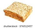 Matzo For Pesach Pile Isolated...
