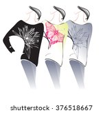 three kinds of  women's... | Shutterstock .eps vector #376518667