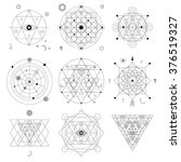 mystical geometry symbols set.... | Shutterstock .eps vector #376519327