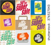 set of different super sale... | Shutterstock .eps vector #376527043