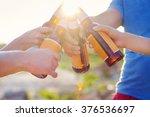 group of friends having a... | Shutterstock . vector #376536697
