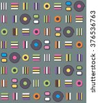 vector pattern with mixed... | Shutterstock .eps vector #376536763