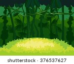 forest glade. beautiful... | Shutterstock . vector #376537627