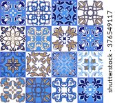 collection seamless patchwork... | Shutterstock .eps vector #376549117