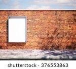 mockup billboard on the wall. 3d | Shutterstock . vector #376553863