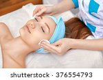 face cleaning in the beauty... | Shutterstock . vector #376554793